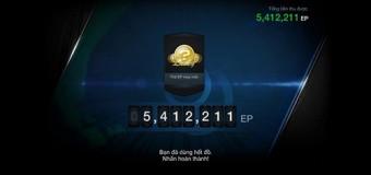 Hướng dẫn cách kiếm tiền triệu EP trong Fifa Online 3