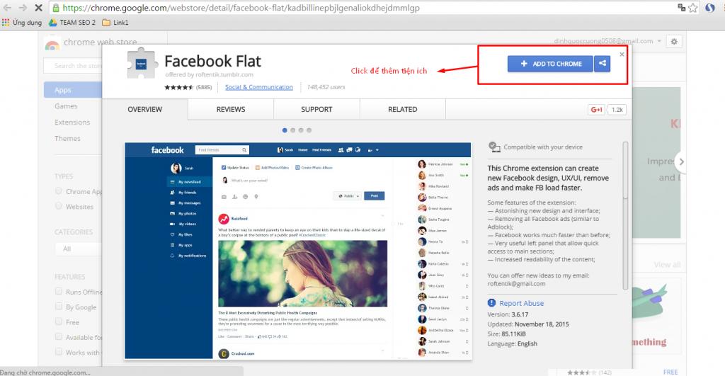 Cách thay đổi giao diện facebook mới