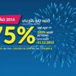 Vinaphone khuyến mãi 75% thẻ nạp duy nhất ngày 31/12