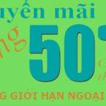 Viettel khuyến mãi năm 50% ngày 31/12