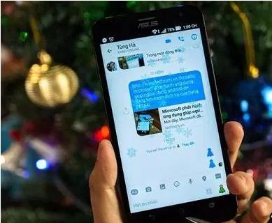 Làm tuyết rơi trên Messenger
