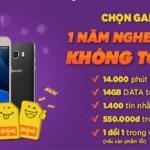 Mua Samsung Galaxy J, khuyến mãi 1 năm nghe gọi miễn phí