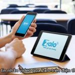 Hướng dẫn cách gửi tin nhắn video trên Zalo