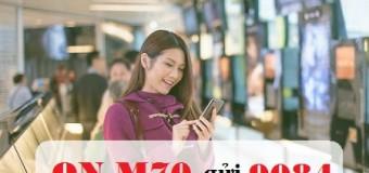 Đăng ký gói M70 Mobifone với 70.000đ nhận ngay 1.6GB