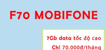Cách đăng ký gói F70 Mobifone có ngay 7GB data tốc độ cao