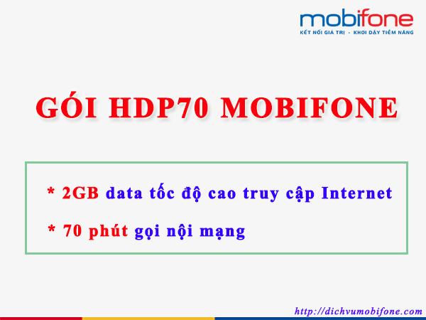 Gói cước HDP70 Mobifone