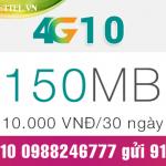 Làm sao để đăng ký gói cước 4G10 Viettel, chỉ với 10.000đ/lần ?