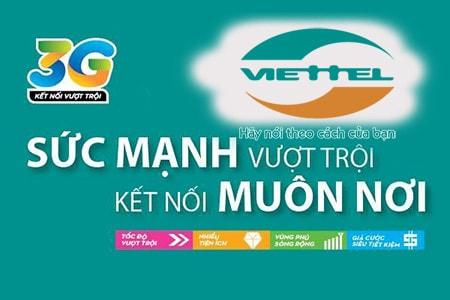 Đăng ký 3G/4G Viettel 2018