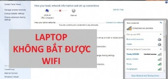 Lỗi laptop không bắt được Wifi và cách sửa trên Win 7/8/10