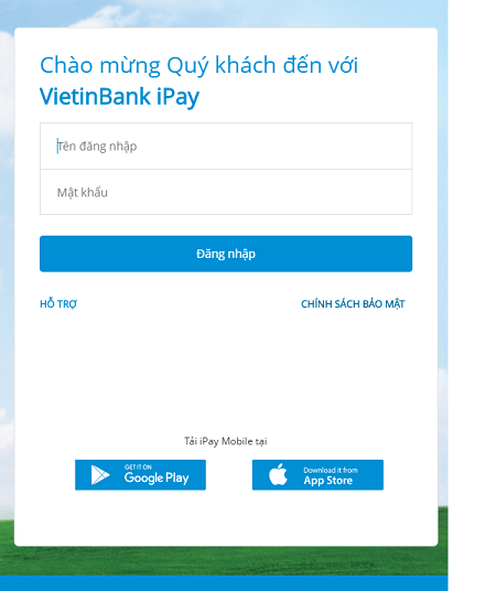 Đăng ký tài khoản VietinBank iPay