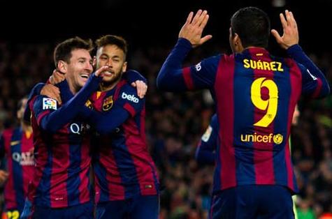 Tam tấu MSN của Barca