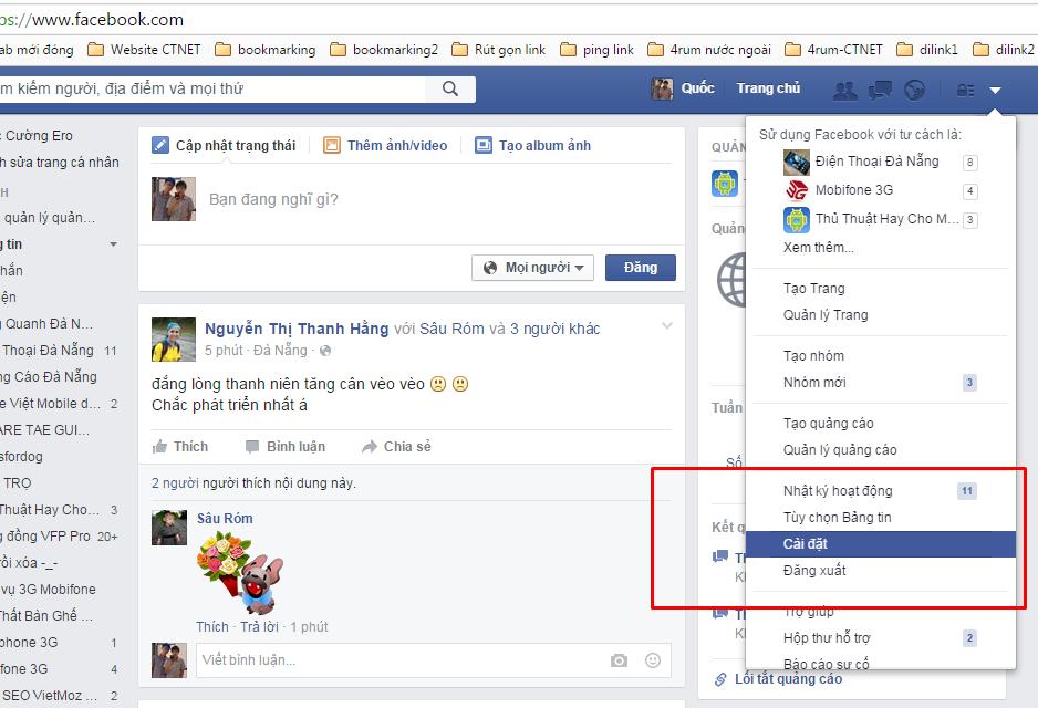 Cài đặt chặn tin nhắn rác từ Facebook
