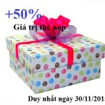 Viettel khuyến mãi 50% thẻ nạp duy nhất ngày 30/11