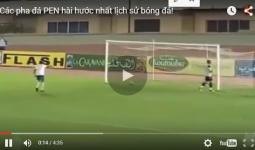 Video đá pen hài hước trong bóng đá