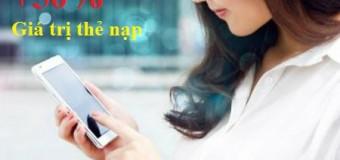 Vinaphone khuyến mãi 50% giá trị thẻ nạp ngày 04/12