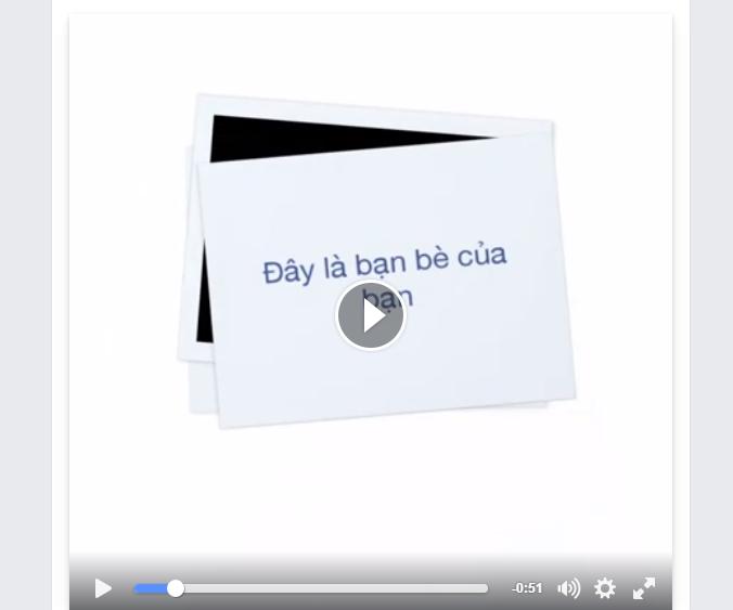 Video tình bạn trên Facebook