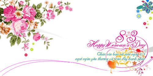 Tin nhắn chúc mừng ngày Quốc tế phụ nữ 8-3