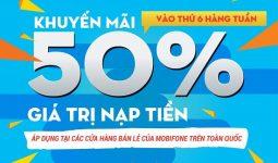 mobifone-khuyen-mai-50-the-nap-thu-6-hang-tuan