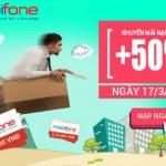 Khuyến mãi Mobifone tặng 50% giá trị thẻ nạp ngày 17/03