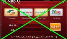 Nhà mạng ngừng nạp thẻ game bằng thẻ điện thoại