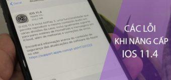 Tổng hợp các lỗi khi nâng cấp iOS 11.4 cho iPhone, iPad thường gặp