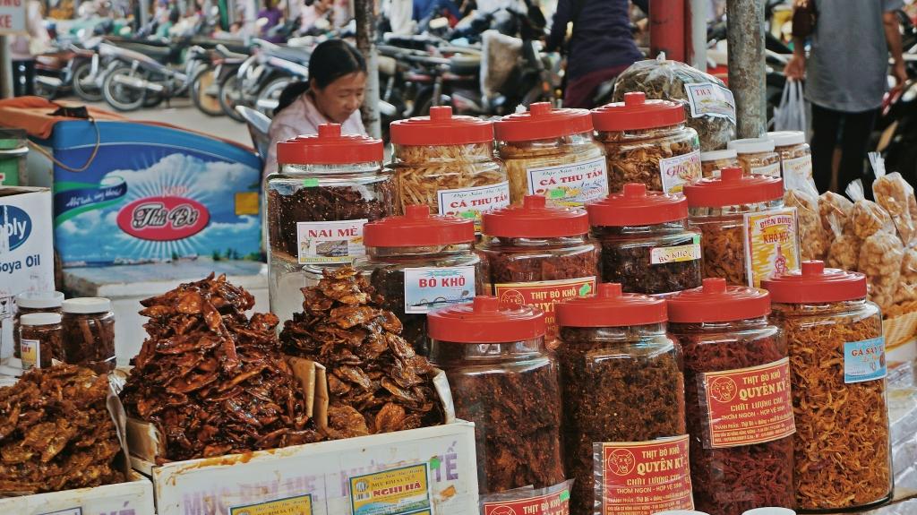 kinh nghiệm đi chợ cồn hải sản khô