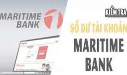 Kiểm tra số dư tài khoản Maritime Bank trên điện thoại
