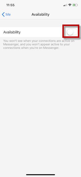 ẩn trạng thái Online trên Messenger