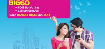 Hướng dẫn đăng ký gói BIG60 Vinaphone với 60.000 đồng/tháng có ngay 60GB DATA