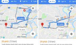 chỉ đường xe máy trên google map