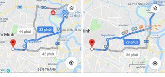 Tính năng chỉ đường xe máy trên google map tại Việt Nam