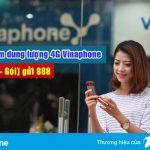Cách mua thêm dung lượng 4G Vinaphone