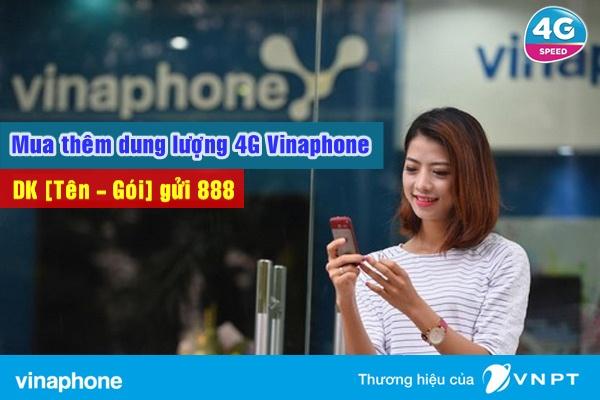 mua thêm dung lượng 4G Vinaphone