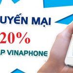 Vinaphone khuyến mãi 20% thẻ nạp ngày 07/09/2018