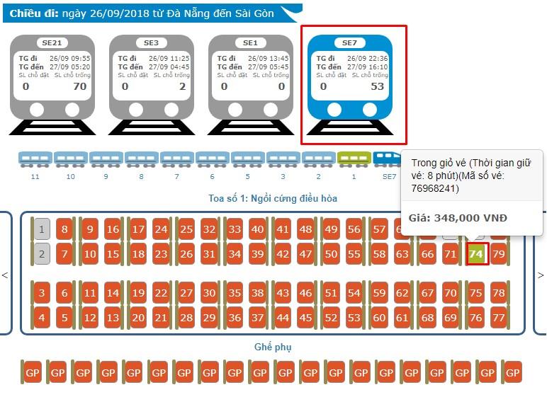Cách mua vé tàu Online trực tuyến