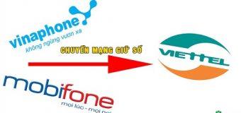 Cách chuyển đổi giữ số từ các mạng khác sang Viettel