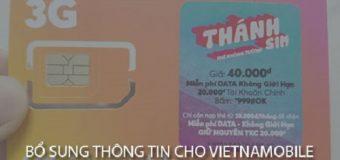 Cách bổ sung thông tin cho Vietnamobile, Thánh Sim tại nhà