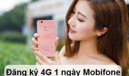 Cách đăng ký gói 4G Mobifone 1 ngày