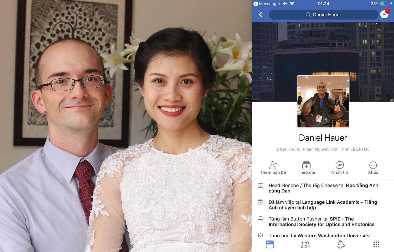 Daniel Hauer và vợ