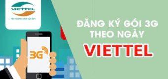 Đăng ký 3G Viettel gói ngày như thế nào?