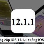 Cách hạ cấp iOS 12.1.1 xuống iOS 12.1 trên iPhone, iPad