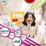 Đăng ký gói F90 Viettel ưu đãi khủng miễn phí gọi và 5GB Data