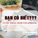 Cước phát sinh VinaPhone là gì? Nguyên tắc tính cước