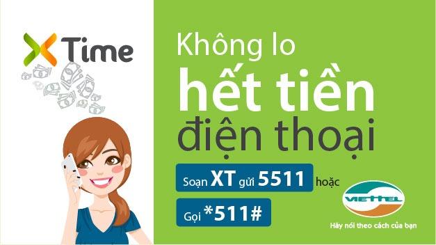Dịch vụ ứng tiền Xtime của Viettel